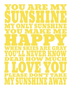16x20 sunshine print yellow